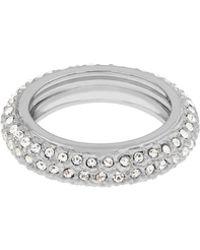 Aurora Flash | Rhodium Plated Eternity Crystal Ring | Lyst