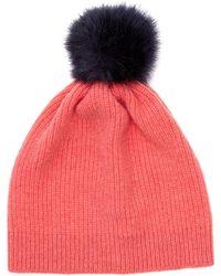 Jigsaw - Girls Faux Fur Pom Hat - Lyst