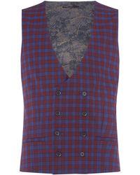 Label Lab - Men's Adams Skinny Fit Tartan Check Waistcoat - Lyst