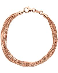 Links of London | Essentials Rose Silk 10 Row Bracelet | Lyst