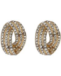 Mikey - Twisted Eclipse Crystal Stud Earring - Lyst