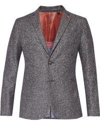 Ted Baker - Slim Semi Plain Wool Jacket - Lyst