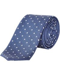 Kenneth Cole - Yoko Textured Polka Dot Silk Tie - Lyst