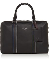 Ted Baker - Walace Striped Detail Document Bag - Lyst