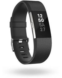 Fitbit - Charge 2 Black & Silver - Lyst