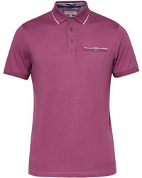 Ted Baker - Men's Freedam Ss Flat Knit Collar Polo - Lyst