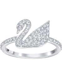 Swarovski - Iconic Swan:ring Cryrhs 55 - Lyst