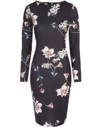 Jane Norman - Floral Bodycon Dress - Lyst