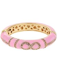 Mikey - Enamel Eight Design Snap Bracelet - Lyst