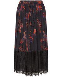Biba - Hummingbird Lace Pleat Skirt - Lyst