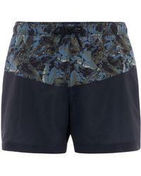 Criminal - Men's Camo Foliage Cut And Sew Swim Shorts - Lyst