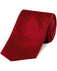 HUGO - Textured Pin Dot Tie - Lyst