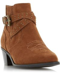 Dune - Paxx Suede Ankle Boots - Lyst