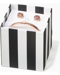 Kate Spade - Spade Bangles Bangle And Studs Boxed Set - Lyst