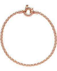Links of London - Rose Gold Vermeil Mini Belcher Bracelet - Lyst