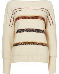 Sessun - Metalic Round Neck Jacquard Sweater - Lyst