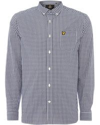 Lyle & Scott - Men's Long Sleeve Gingham Check Shirt - Lyst