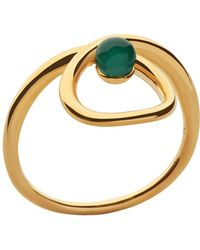 Links of London   Serpentine Gold & Green Chalcedony Ring   Lyst