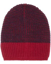 Benetton - Girls Stripe Knitted Beanie - Lyst