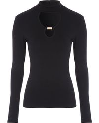 Jane Norman | Long Sleeve Cut-out Top | Lyst