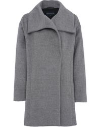 French Connection - Bennie Wool Wide Collar Coat - Lyst