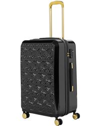 Biba - Logo Emboss Black 8 Wheel Large Suitcase - Lyst