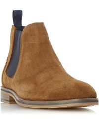 Howick | Moses Constrast Gusset Chelsea Boots | Lyst