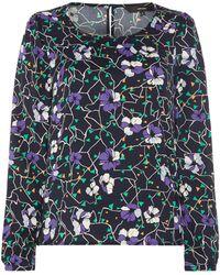 Vero Moda | Isolde Long Sleeve Floral Print Top | Lyst