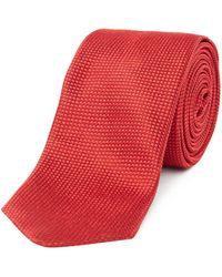 HUGO - Textured Tonal Birdseye Tie - Lyst