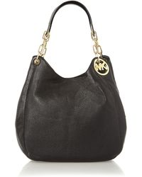 Michael Kors | Fulton Black Large Hobo Bag | Lyst