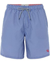 Ted Baker - Men's Larkman Geo Print Swim Shorts - Lyst