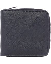 Fred Perry - Saffiano Zip Around Wallet - Lyst