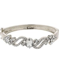 Mikey - Filigree Twist Crystal Centre Bracelet - Lyst