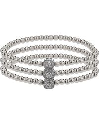 Mikey - Triple Oval Linked Crystal Bracelet - Lyst