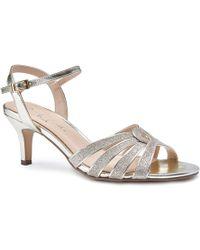 Paradox London Pink - Merle Mid Heel Ankle Strap Sandals - Lyst