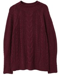 Mango - Cable-knit Jumper - Lyst