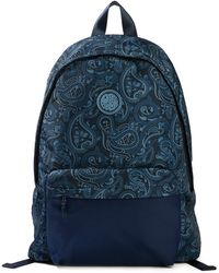Pretty Green - Nylon Paisley Backpack With Plain Pocket - Lyst