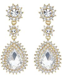 Mikey - Marquise Eclipse Stone Drop Earring - Lyst