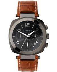 Links of London - Brompton Gun Dial Chronograph Watch - Lyst