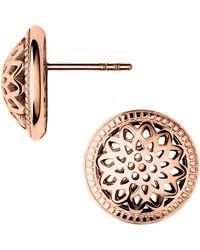 Links of London | Timeless Rose Gold Domed Stud Earrings | Lyst