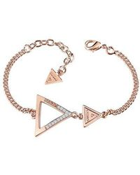 Guess - Iconic 3angles Ubb83065-l Bracelet - Lyst