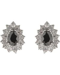 Mikey - Oval Cubic Marqise Stud Earring - Lyst
