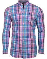 Raging Bull - Men's Big And Tall Long Sleeve Madras Check Shirt - Lyst