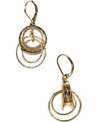 Anne Klein - Gold Drop Drop Earrings - Lyst