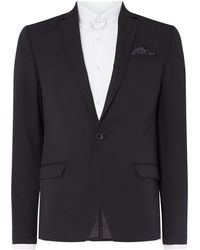 Label Lab - Men's Jones Skinny Fit Notch Lapel Twill Suit Jacket - Lyst