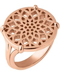 Links of London - Timeless Rose Gold Coin Ring - Lyst