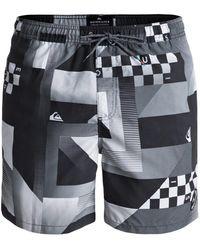 Quiksilver - Men's Checker 17 Beach Shorts - Lyst
