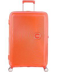 American Tourister   Soundbox Bass Spicy Peach Hard Cabin Spinner   Lyst