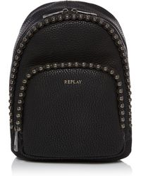 Replay - Hammered Eco Leather Bag - Lyst