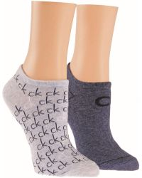 CALVIN KLEIN 205W39NYC - Repeat Logo 2 Pair Pack Trainer Socks - Lyst